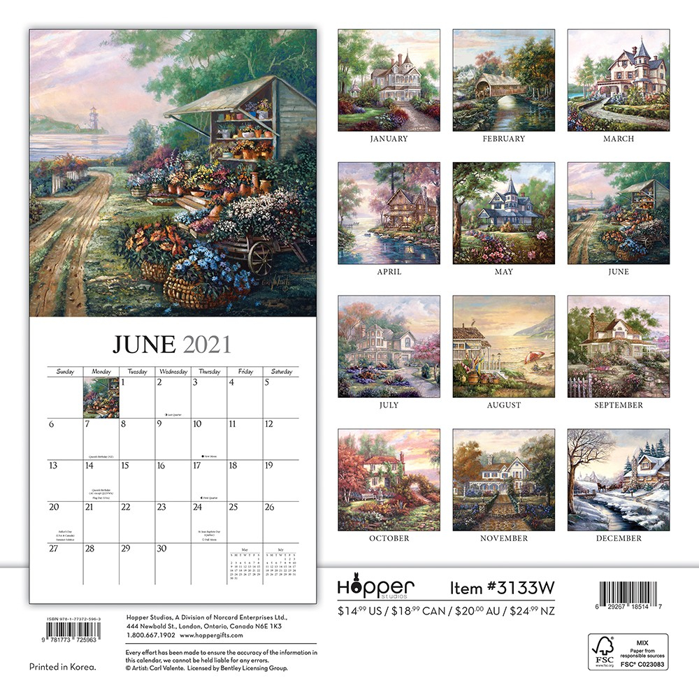 Bygone Days 2021 12 X 12 Inch Monthly Square Wall Calendar