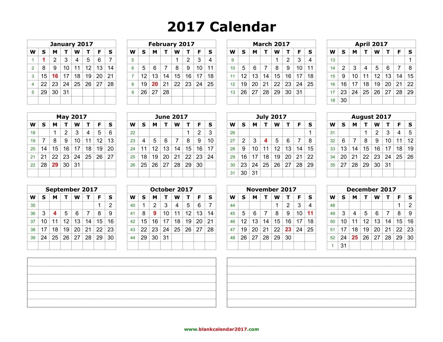 Calendar 2017: 50 Important Calendar Templates Of 2017