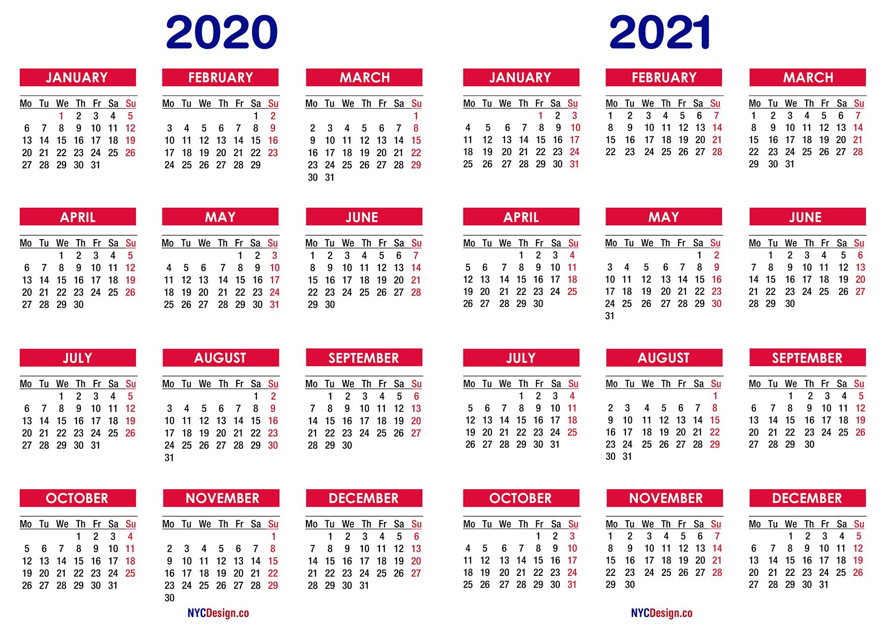 Calendar 2020 To 2021 | Calendar Printables Free Templates