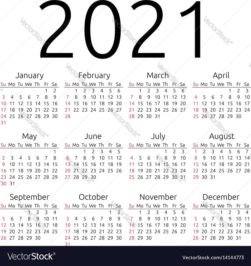 Calendar For 2021 | Exam Calendar
