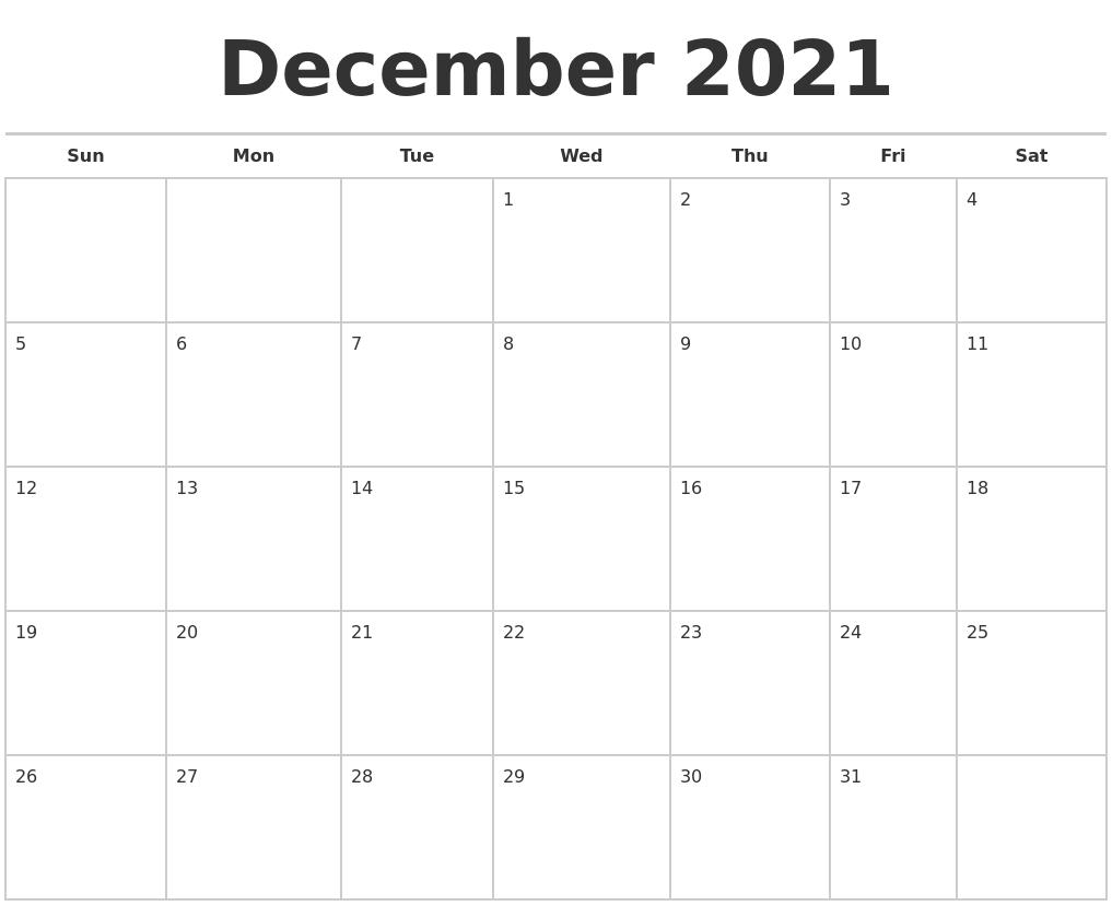 Calendar October November December 2021 – Template