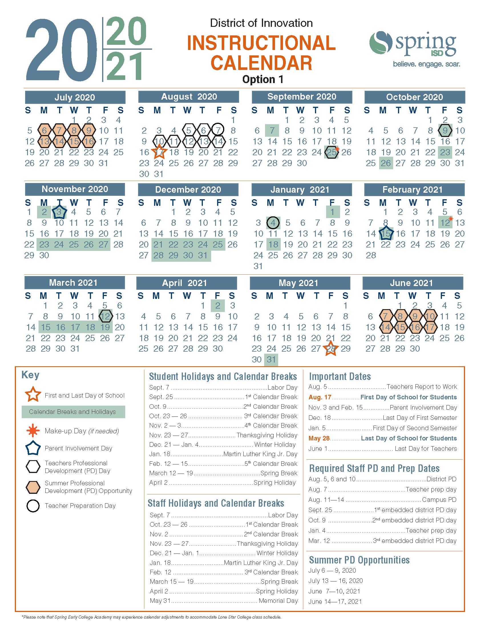 Calendar Survey / 2020-21 Instructional Calendar