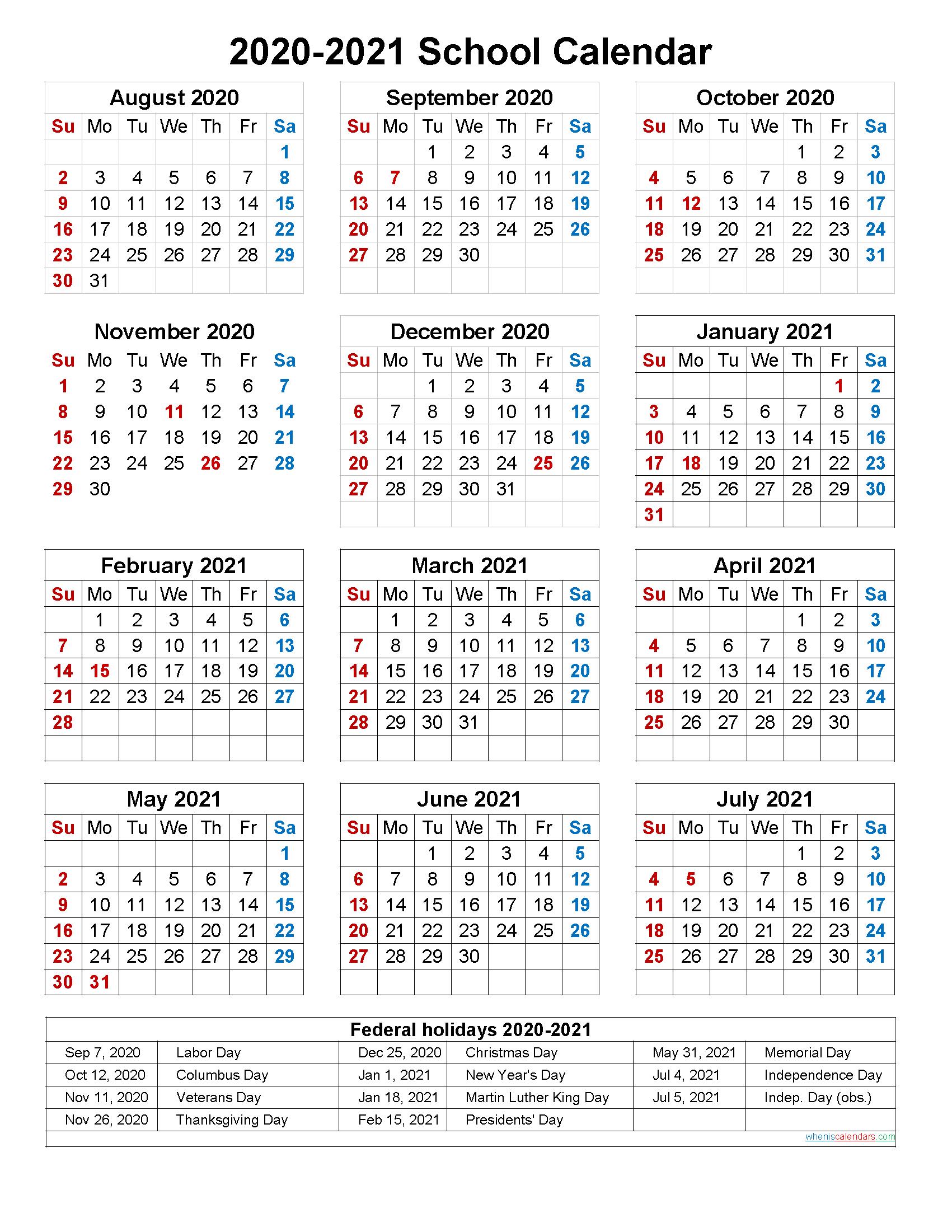 Catch Free Printable Calendar 2020 2020 & 2021 | Calendar