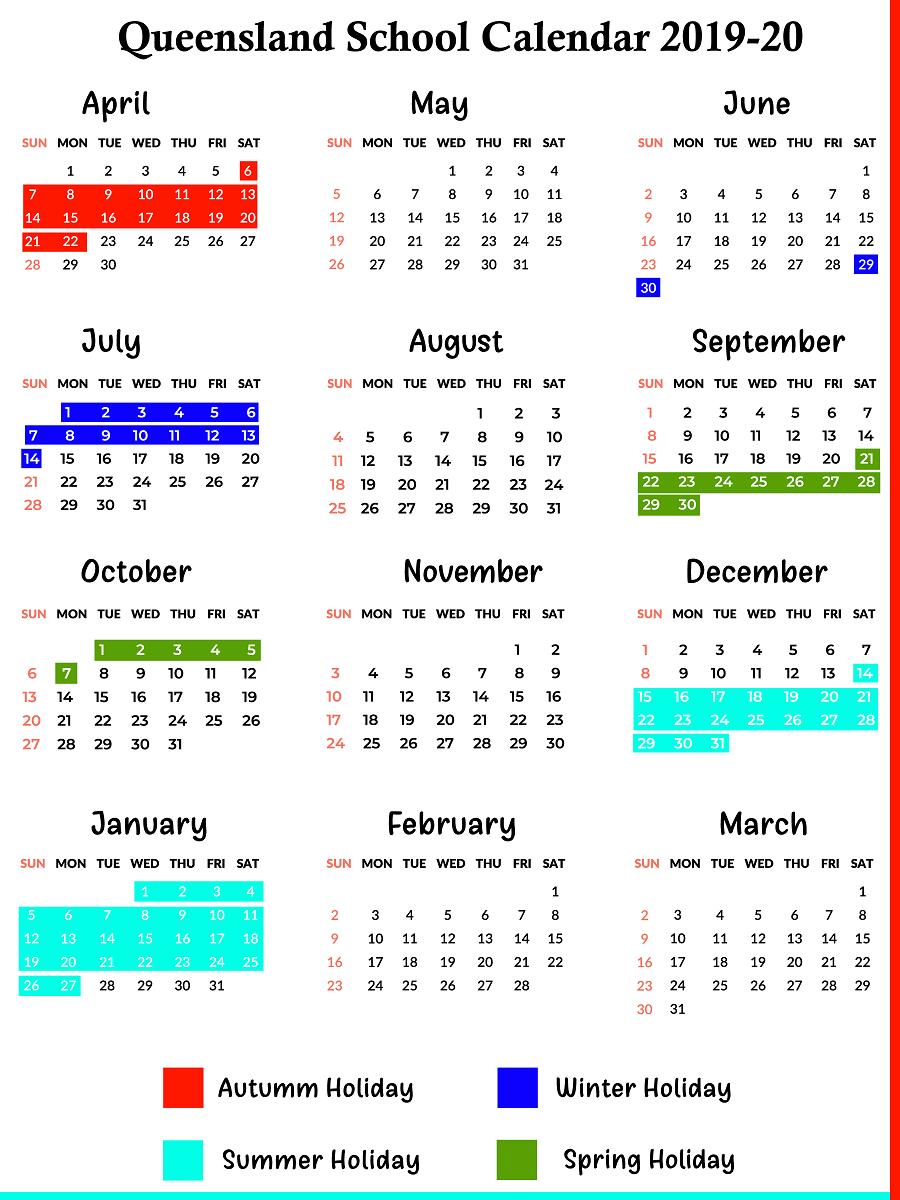 Catch School Calendar Queensland State Schools 2020