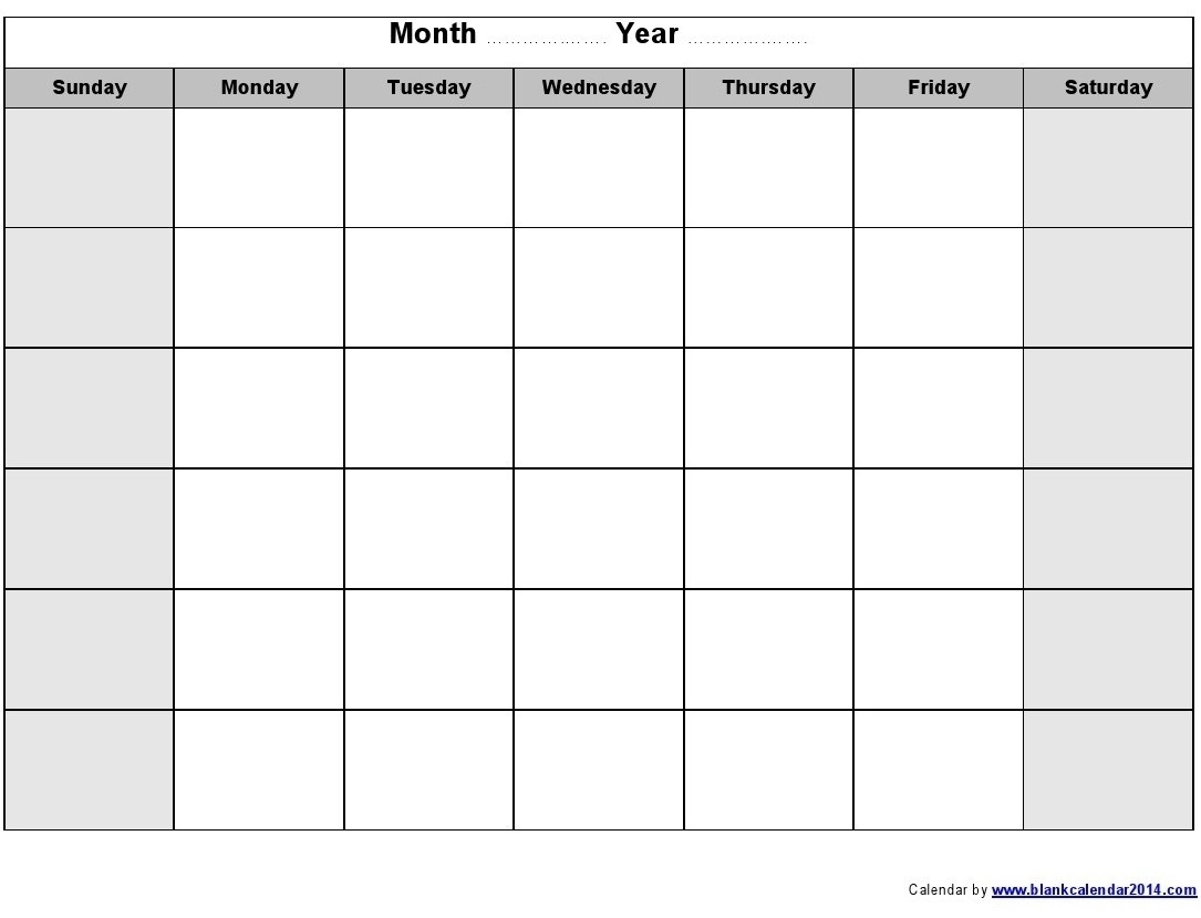 Collect Blank Weekly Calendar Monday To Friday ⋆ The Best