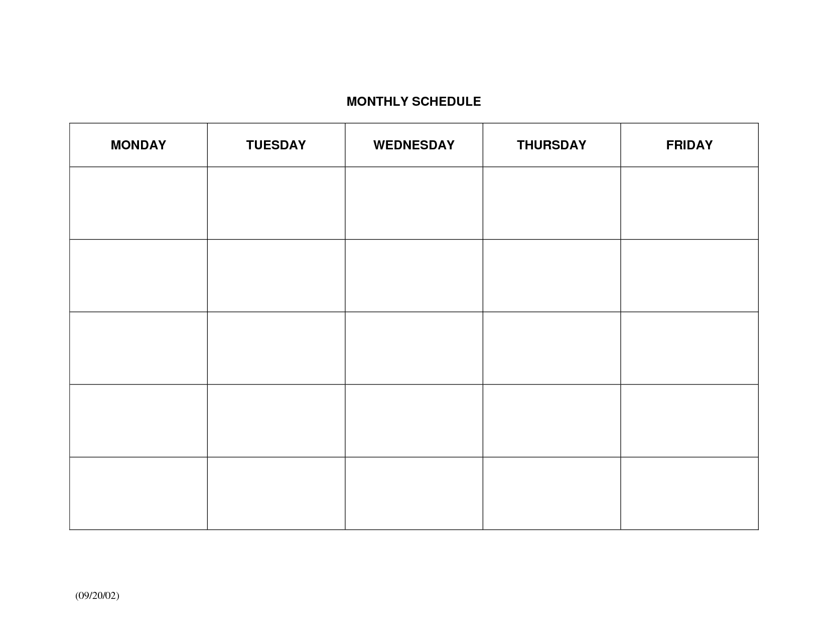 Collect Large Blank Monthly Calendar To Fill In ⋆ The Best