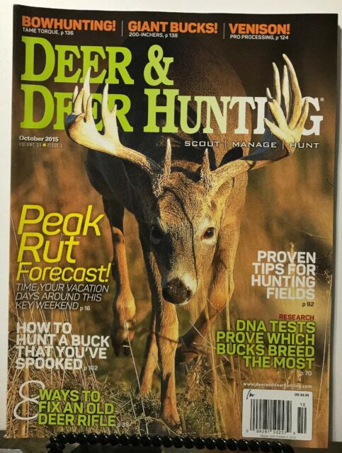 Deer & Deer Hunting Peak Rut Forecast Hunt Buck October