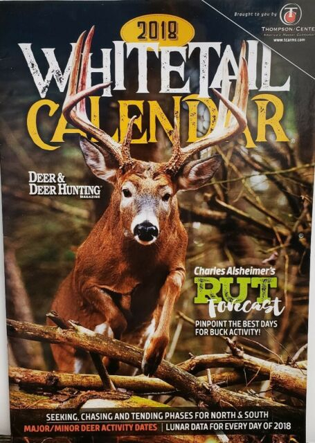 Deer & Deer Hunting Whitetail Calendar 2018 Rut Forecast