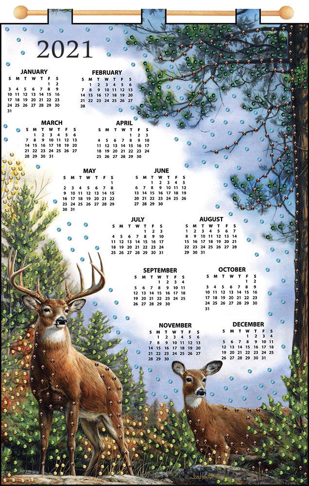 Design Works Deer 2021 Felt Calendar - Walmart