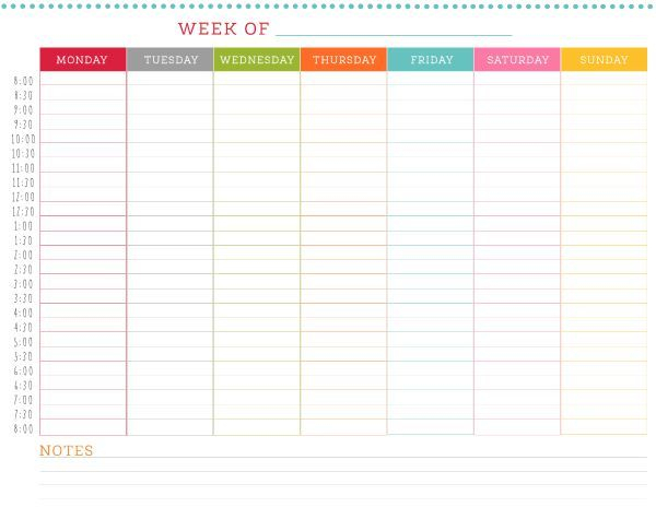 Don'T Double Book Yourself! Use This Free Printable Weekly