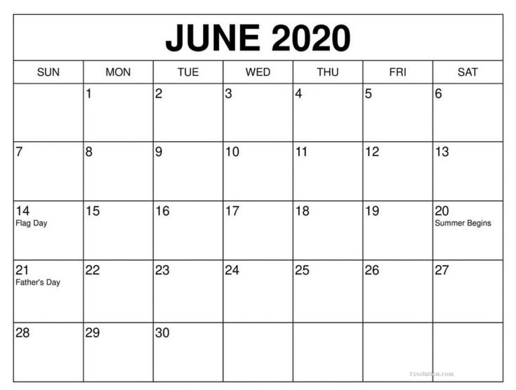 Download June 2020 Calendar Printable | In 2020 | Calendar