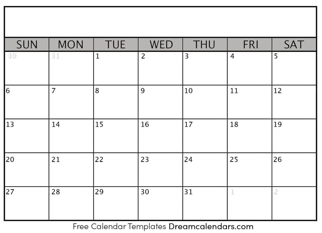 Dream Calendars - Make Your Calendar Template Blog