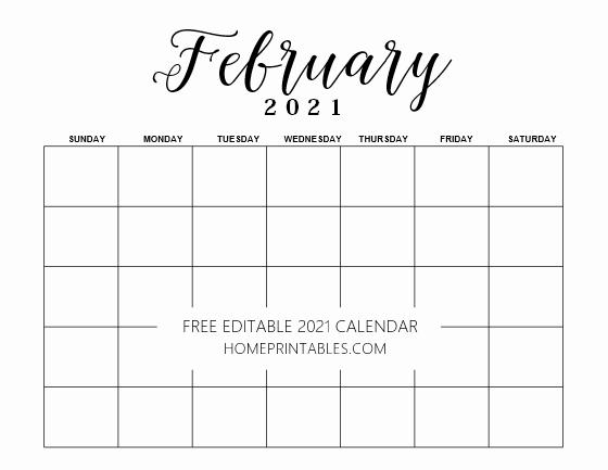 Editable Calendar 2021 In Microsoft Word Template Free