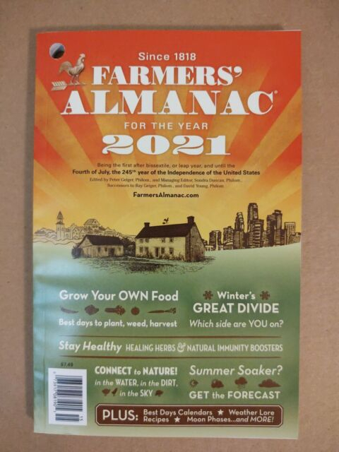 Farmers' Almanac 2021 Since 1818 Forecast, Predictions 184
