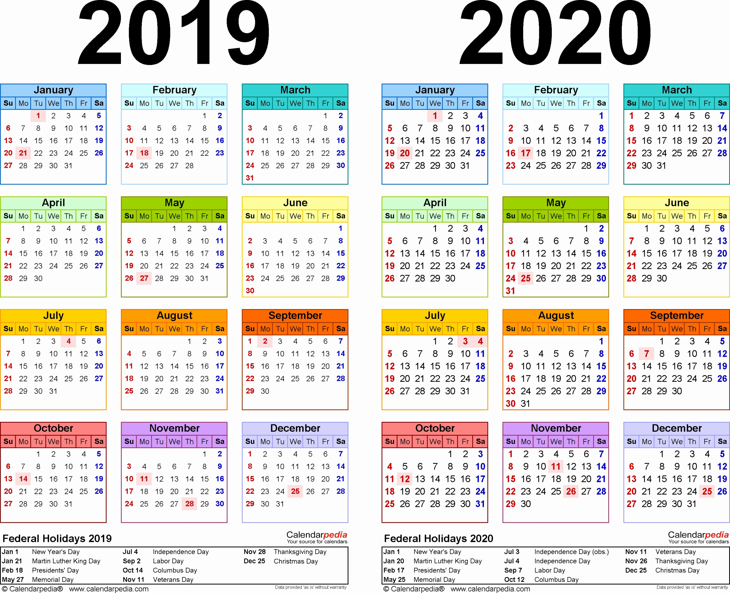 Federal Holiday Calendar 2020 | Lifehacked1St