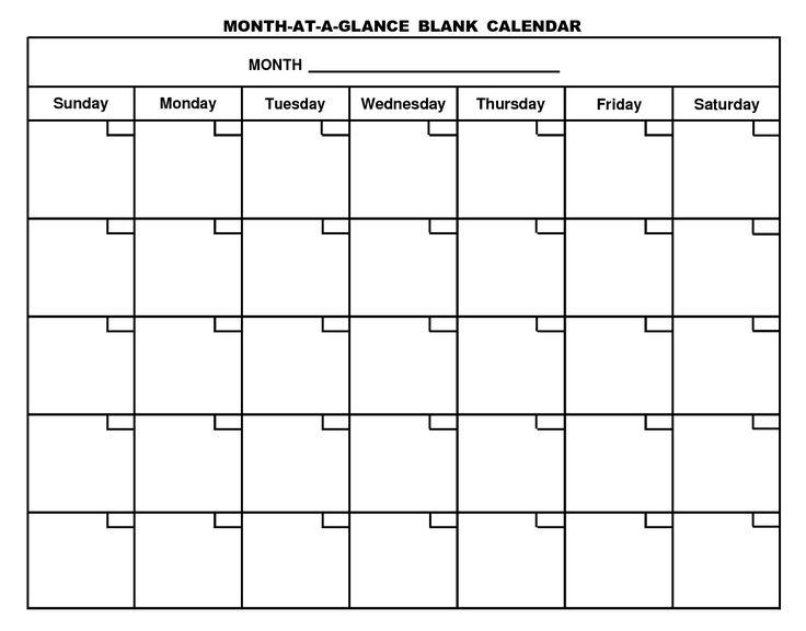Fill In And Print Calendar :-Free Calendar Template