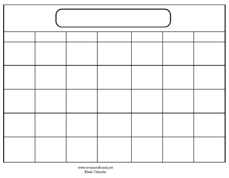 Fill In And Print Calendar :-Free Calendar Template