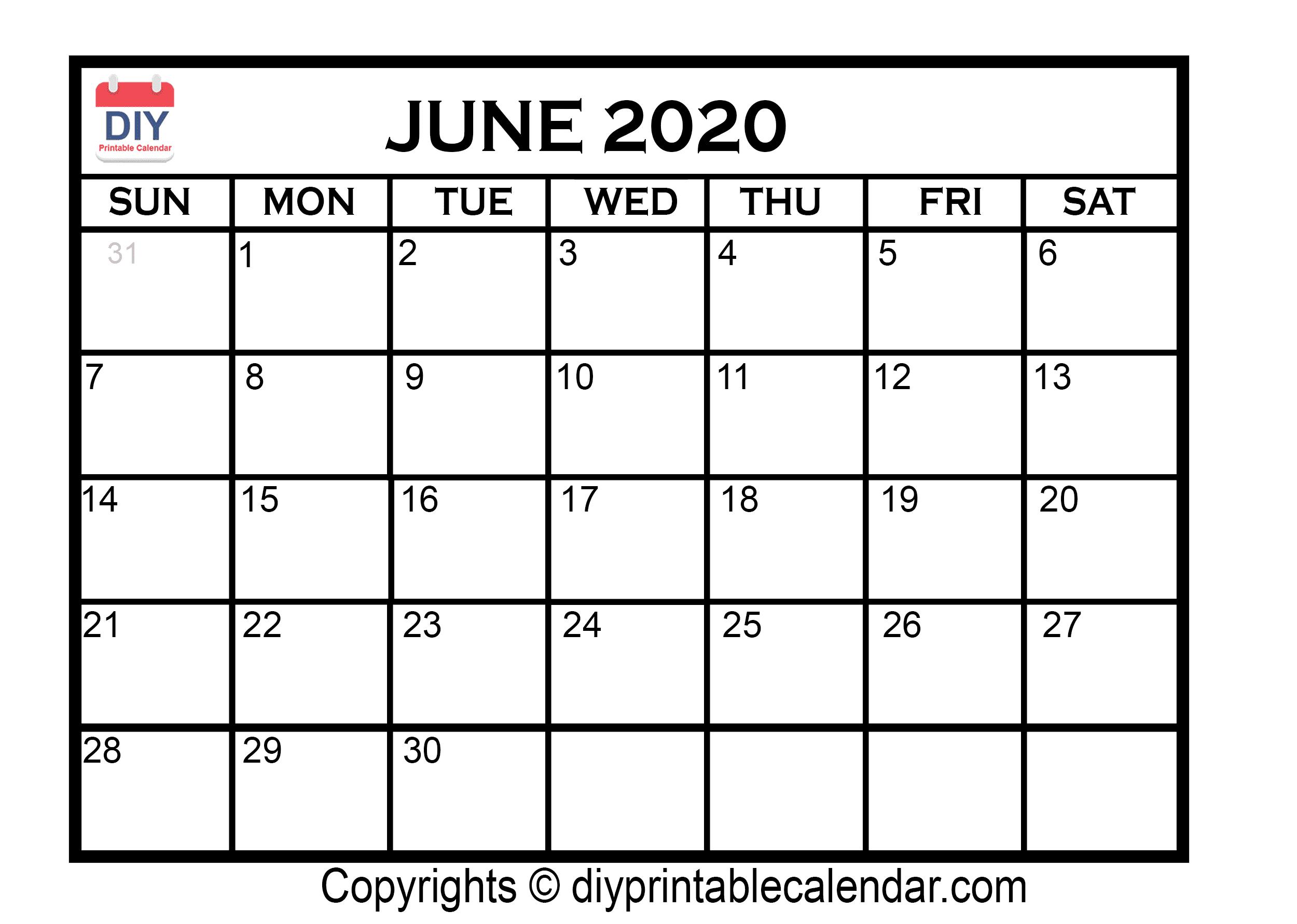 Fill In Calendar 2020 | Calendar Template Printable