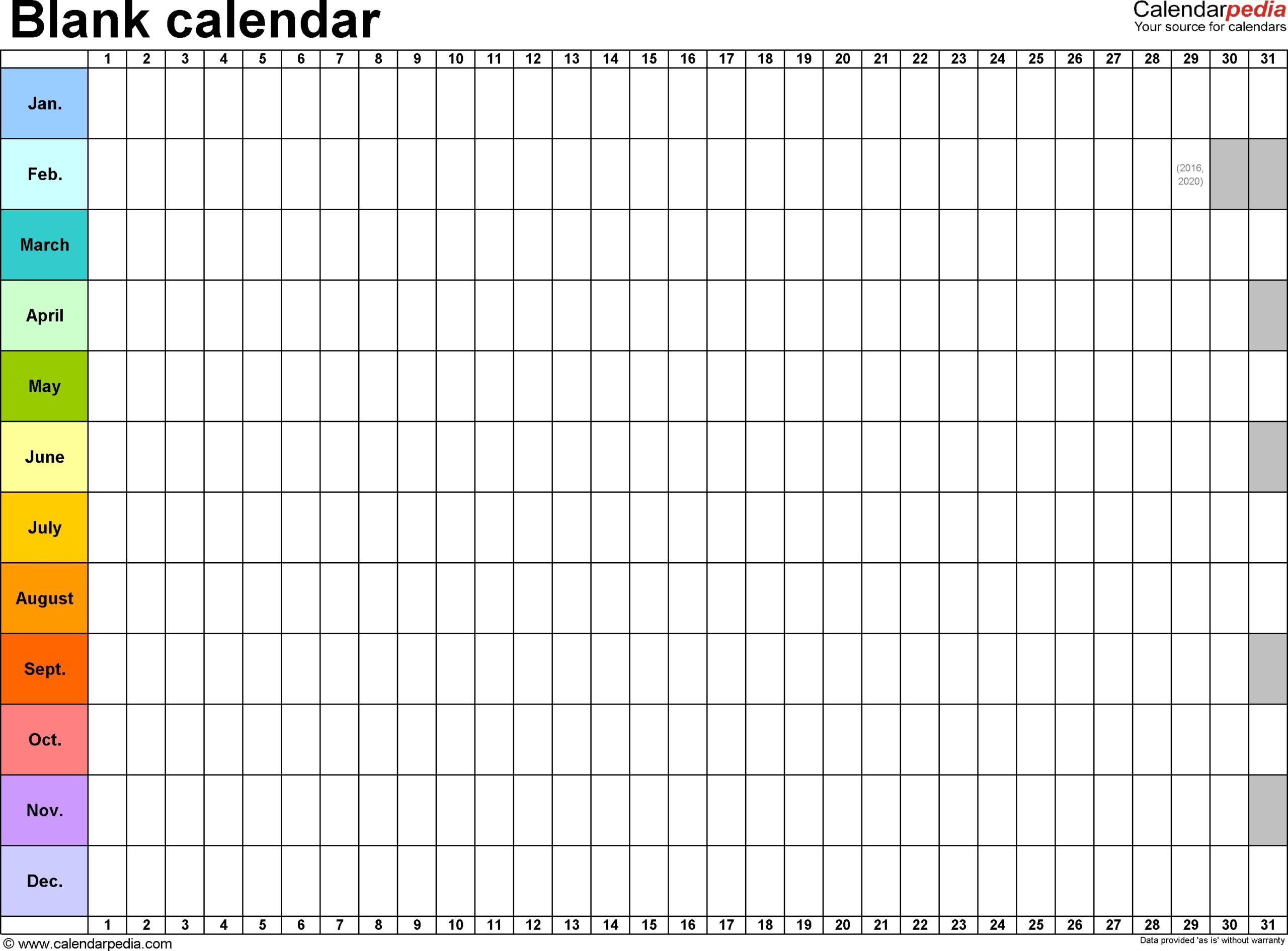 Fill In Calendar Template Printable - Calendar Inspiration