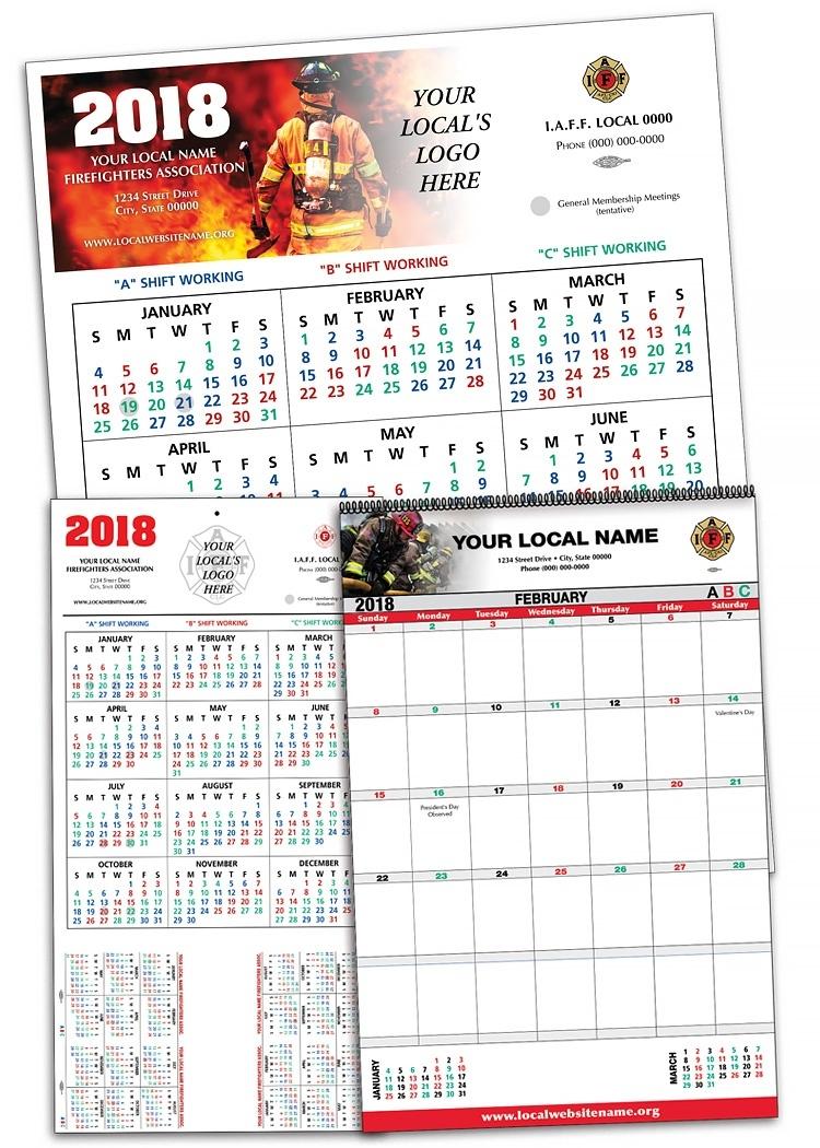 Fire Dept Calendar 2018 Printable – Template Calendar Design