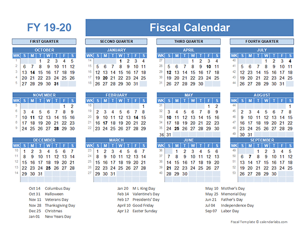 Fiscal Planner Template 2019 - Free Printable Templates
