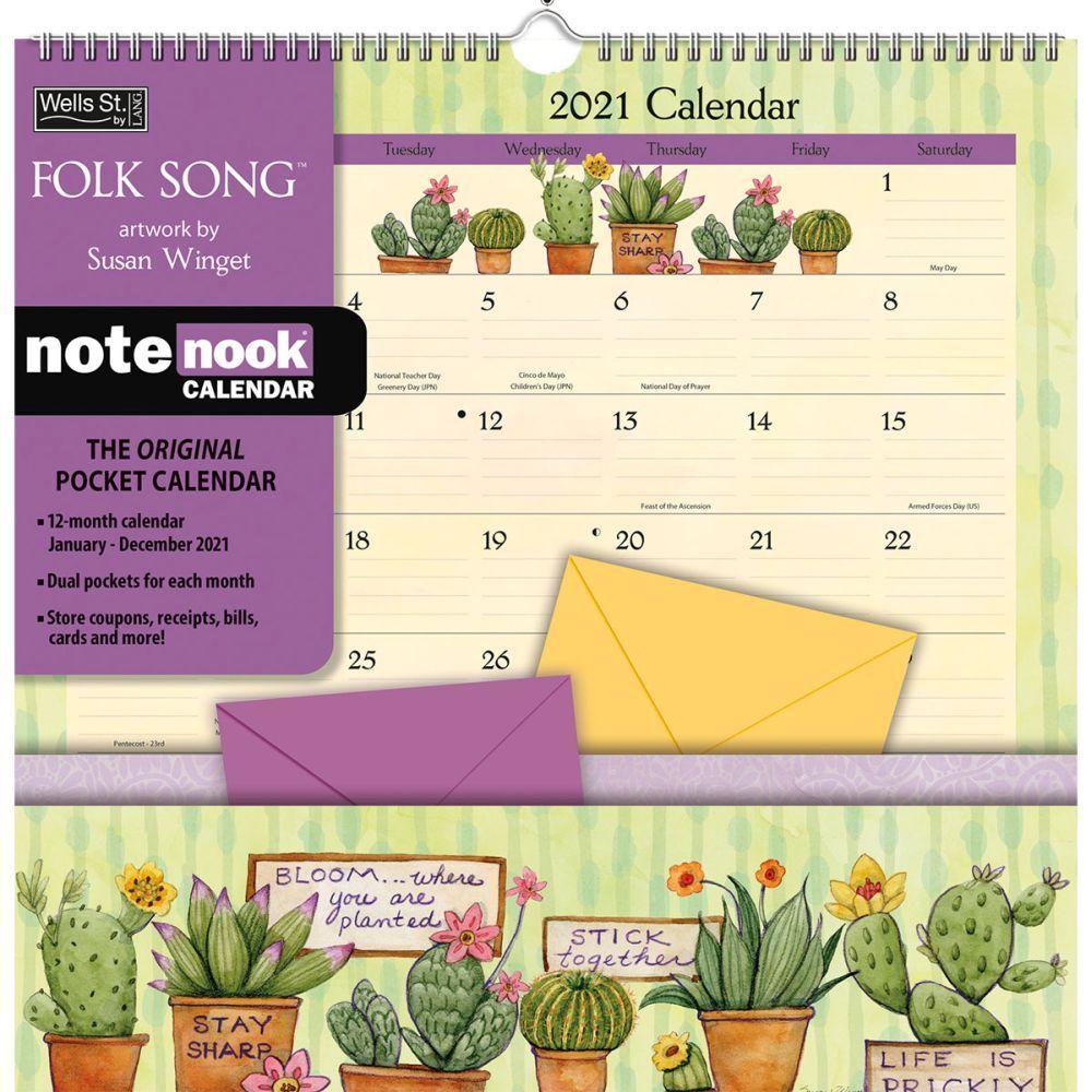 Folk Song Pocket Wall Calendar 2021 - Walmart