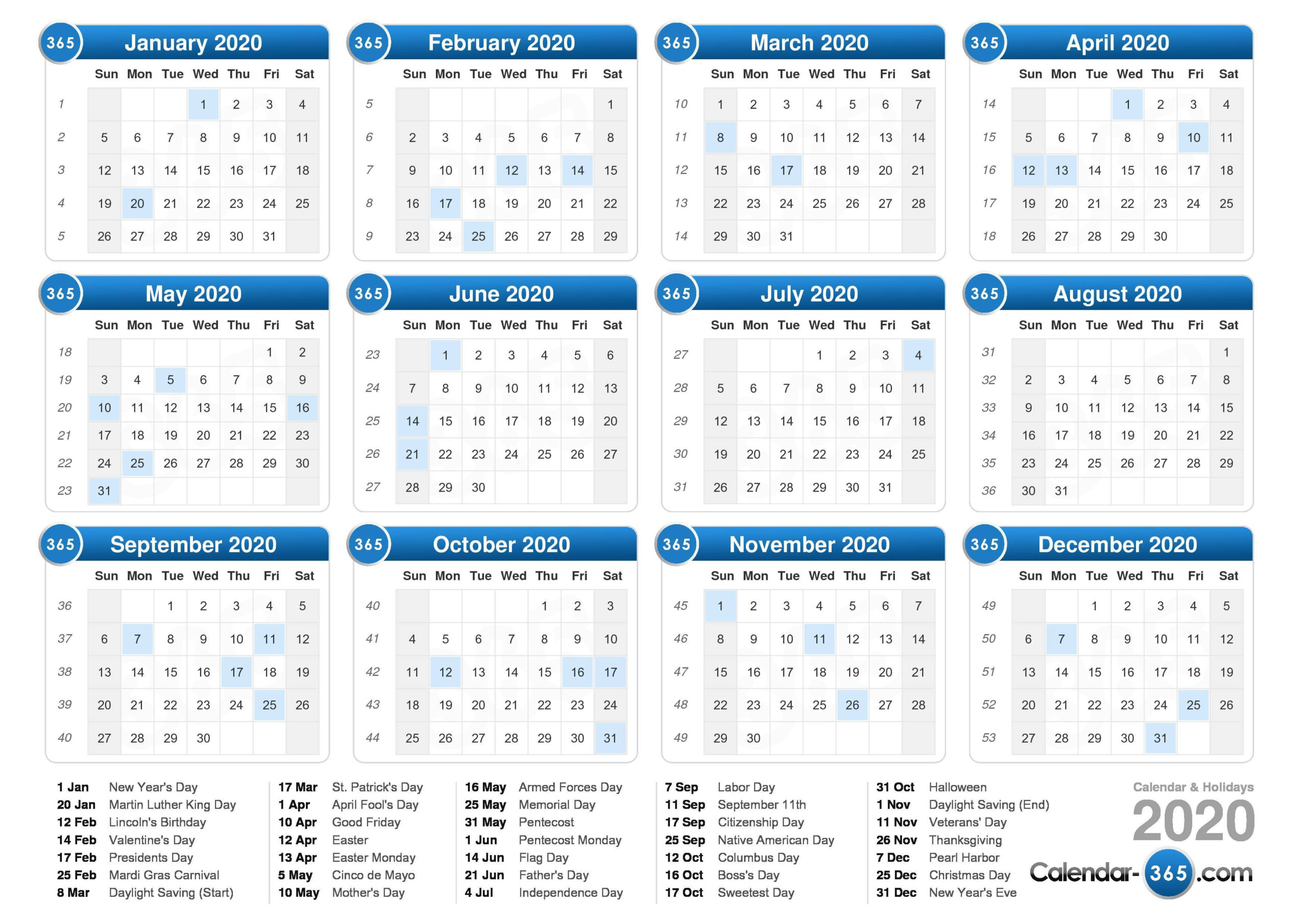 Free Big Printerable Calendars 2020-2023 | Example