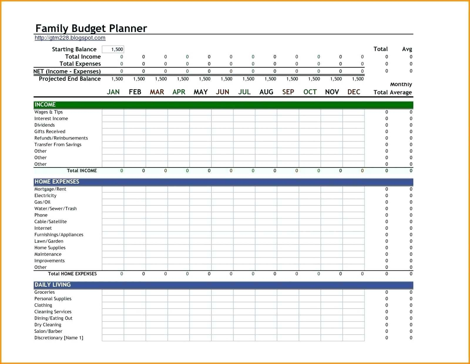 Free Monthly Spreadsheet Templates – Template Calendar Design