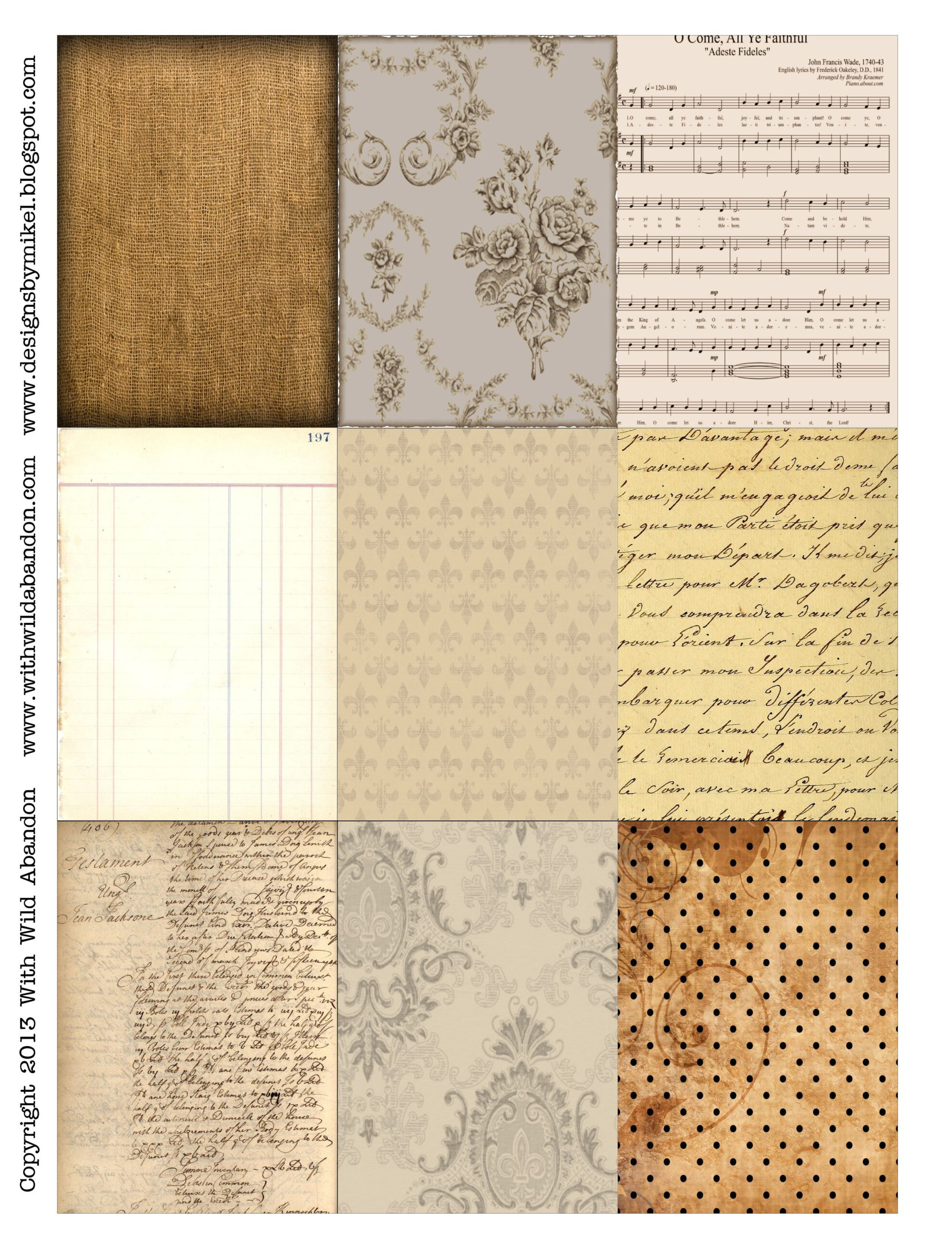 Free Printable Atc Backgrounds #Collage | Free Printables