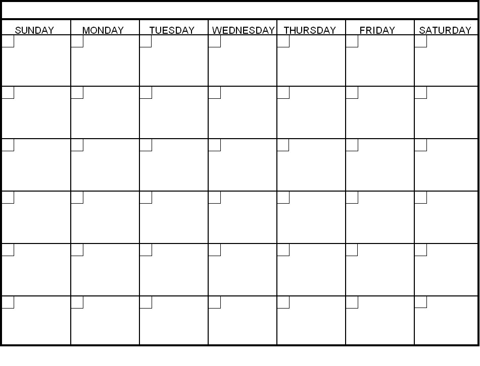 Free Printable Blank Calendars To Fill In :-Free Calendar