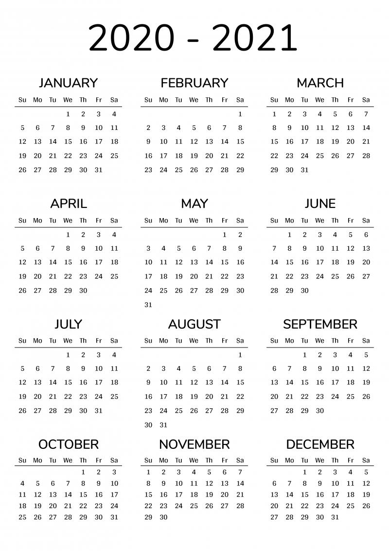 Free Printable Calendar 2020-18 | Month Calendar Printable