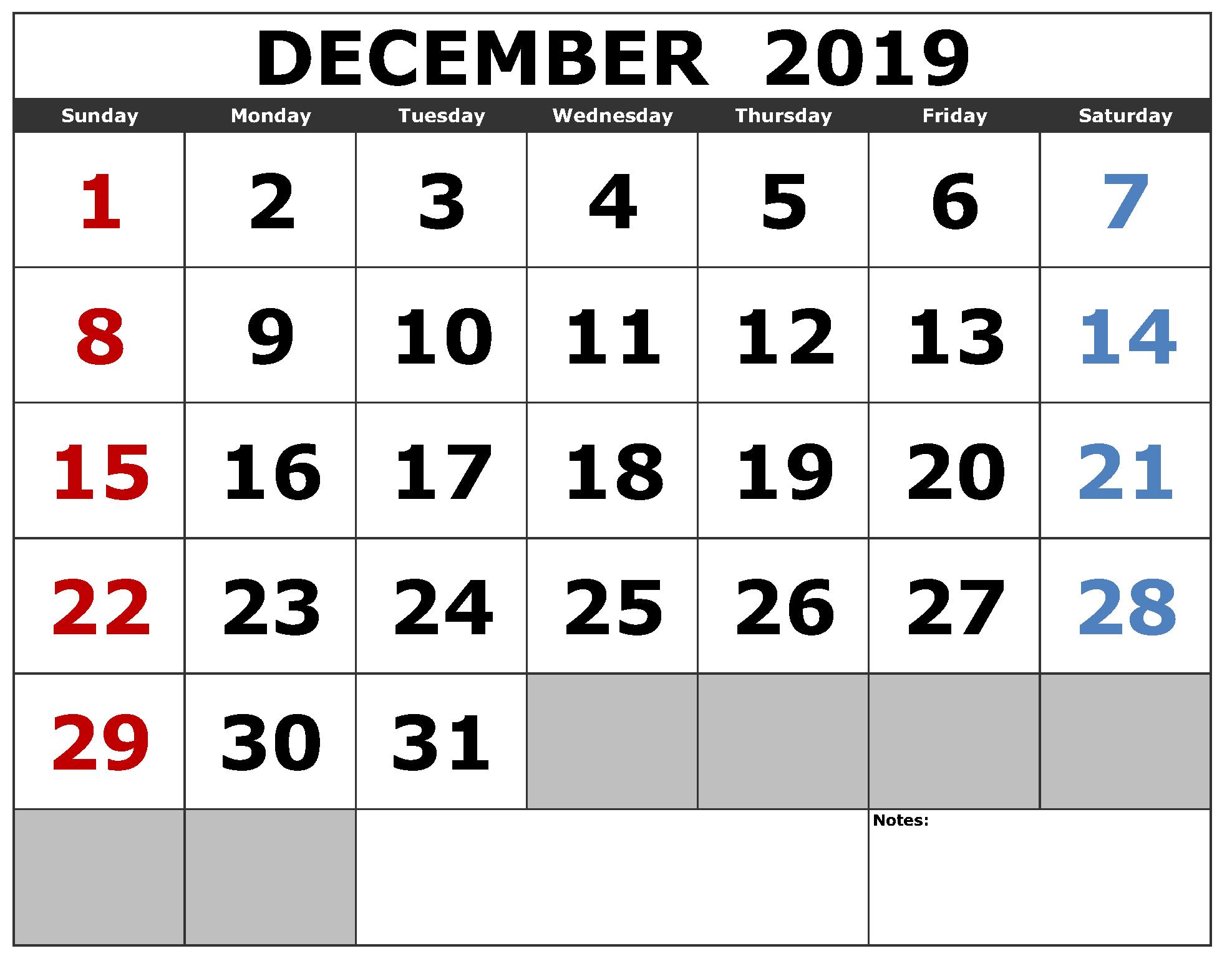 Free Printable Calendar Big Numbers | Calendar Printables