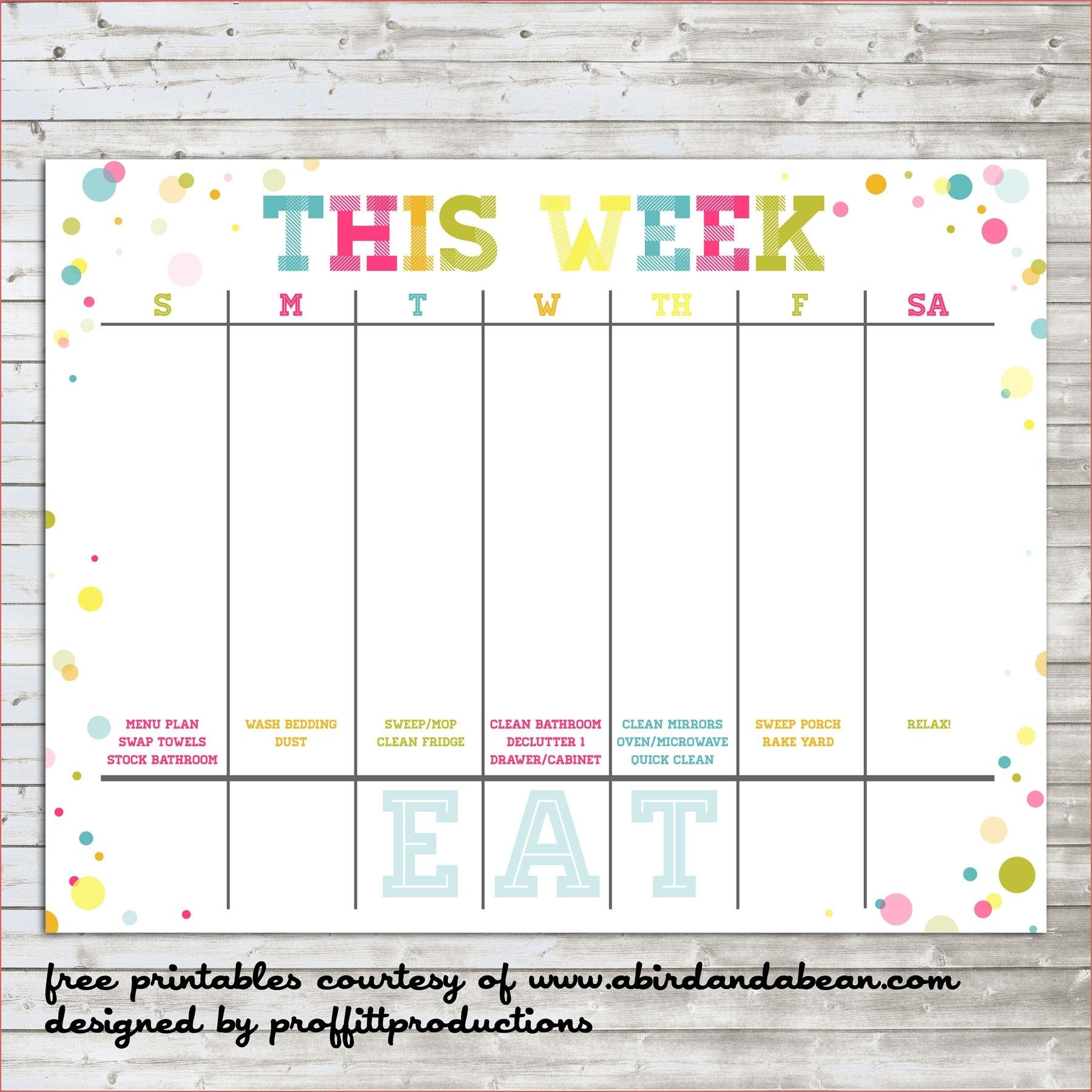 Free Printable Calendar By Week | Ten Free Printable
