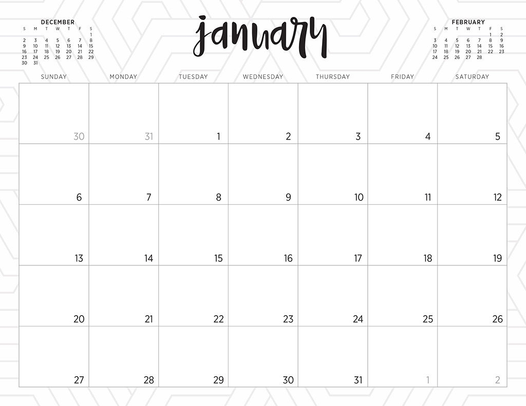 Free Printable Calendar Decorative | Ten Free Printable