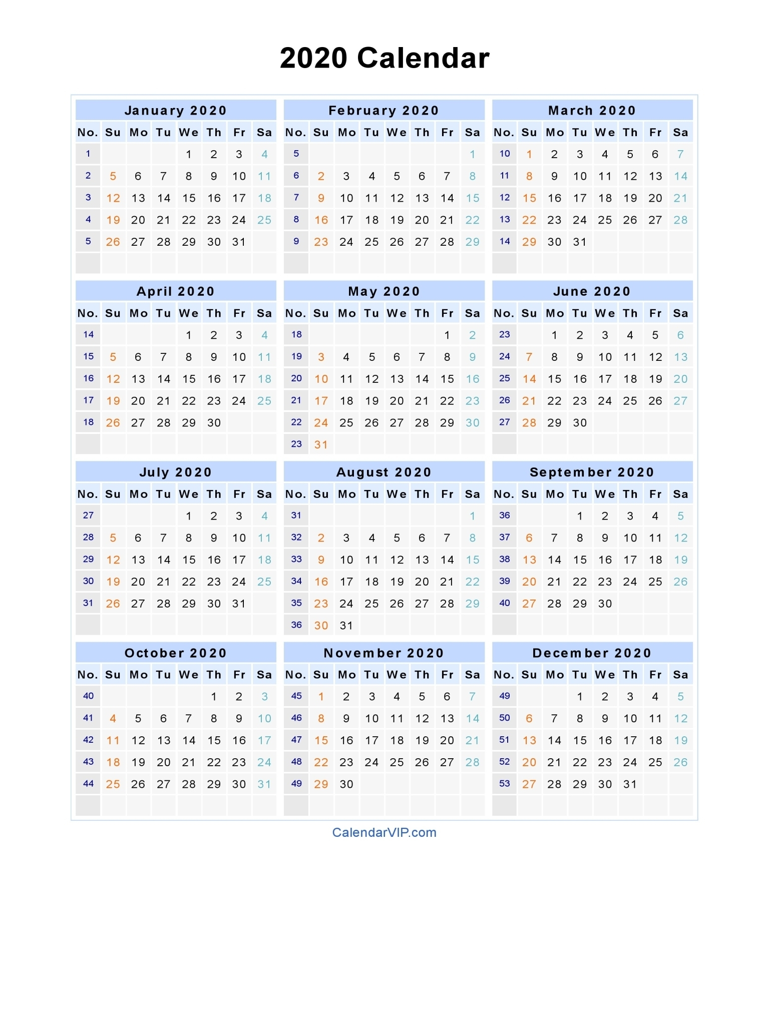 Free Printable Calendar Ireland 2020 | Month Calendar