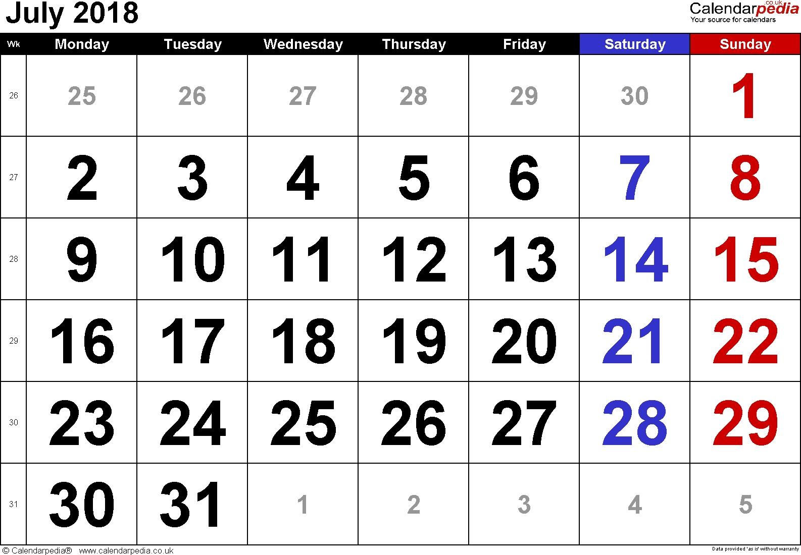 Free Printable Calendar Large Numbers | Ten Free Printable