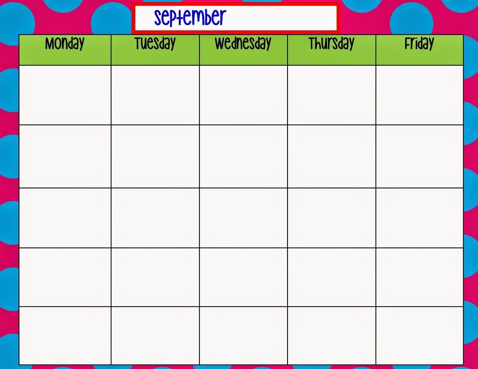 Free Printable Calendar Monday To Sunday | Ten Free