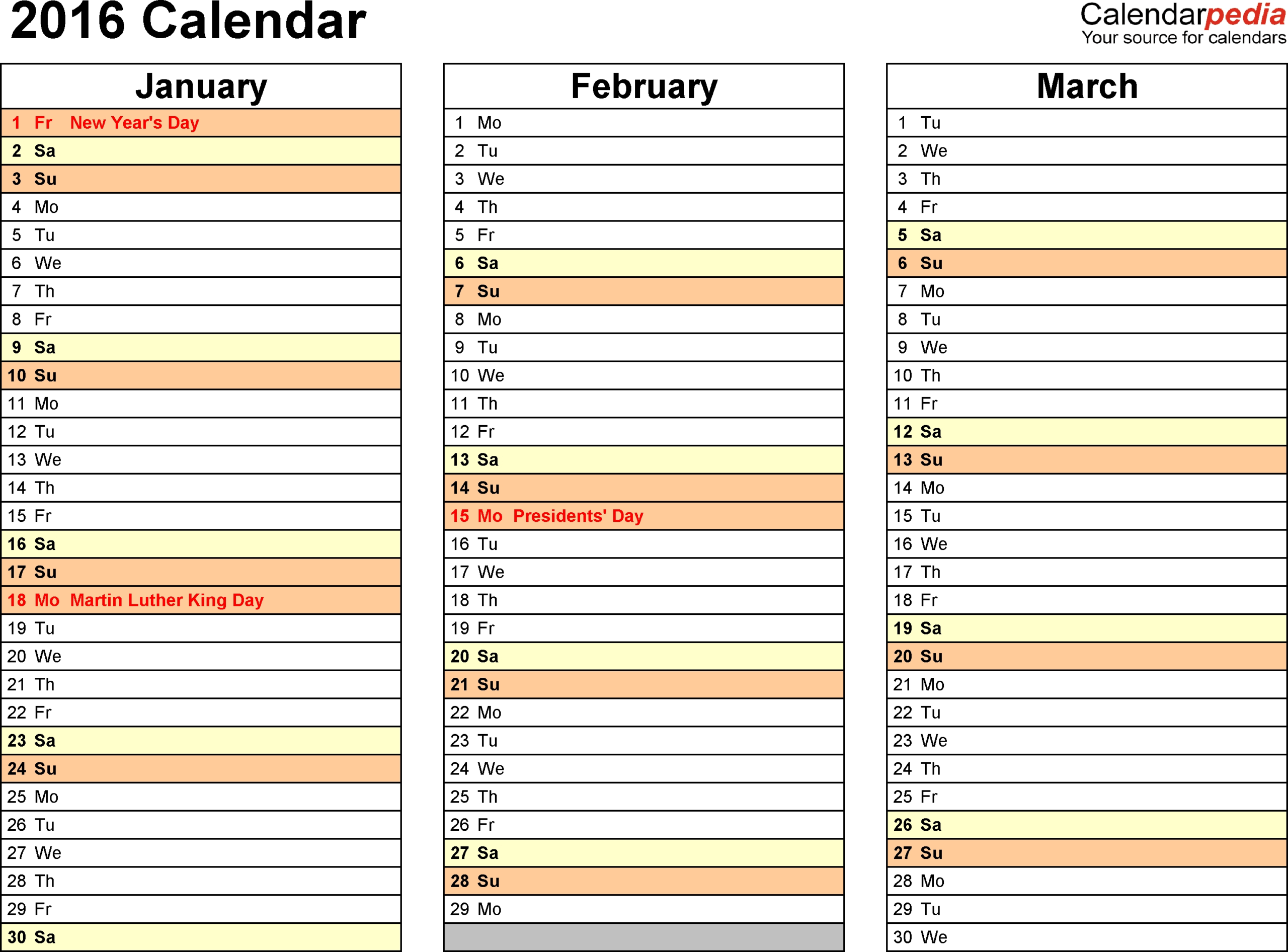 Free Printable Calendar Month By Month 2017 – Template