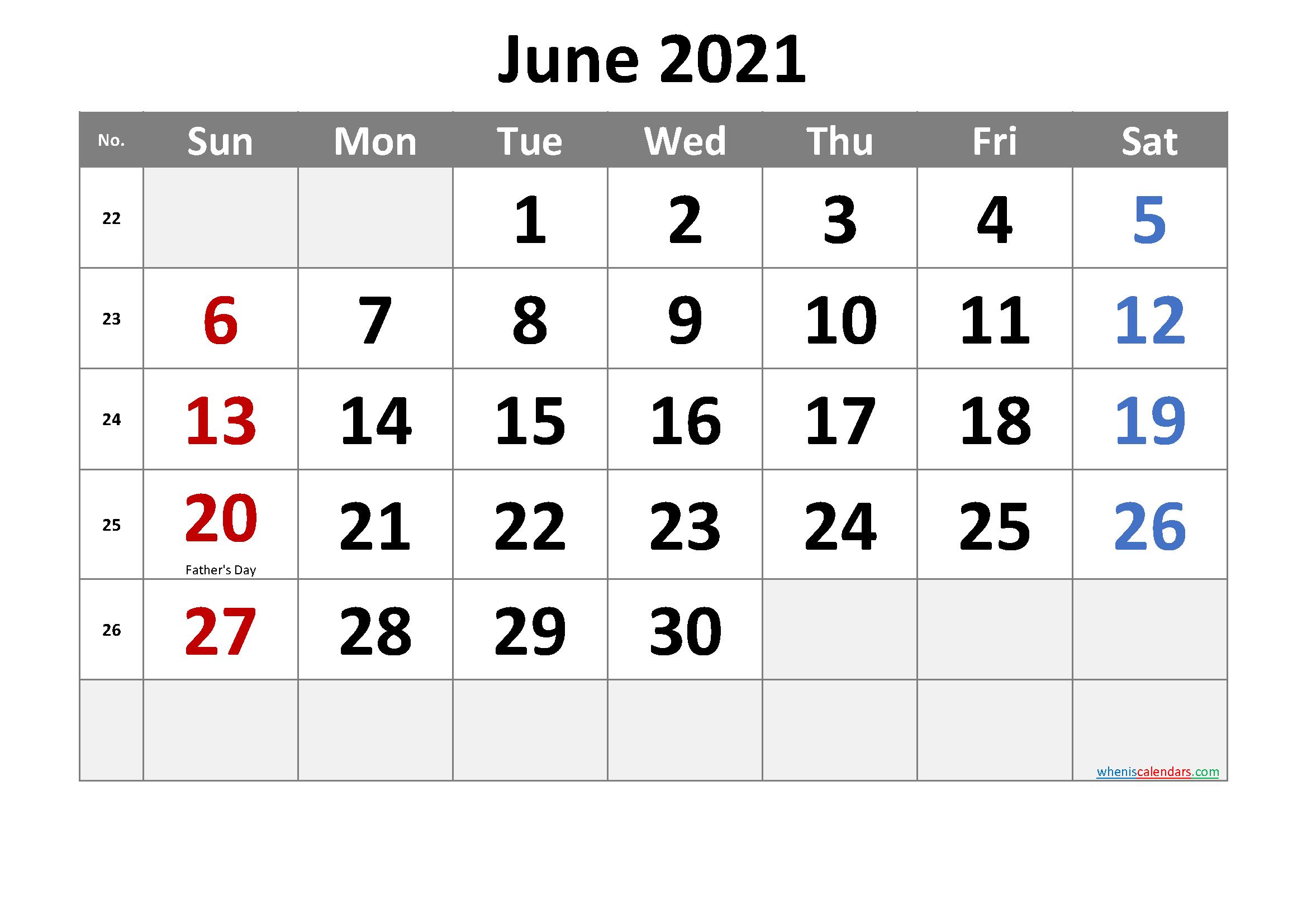 Free Printable February 2021 Calendar With Holidays - 6