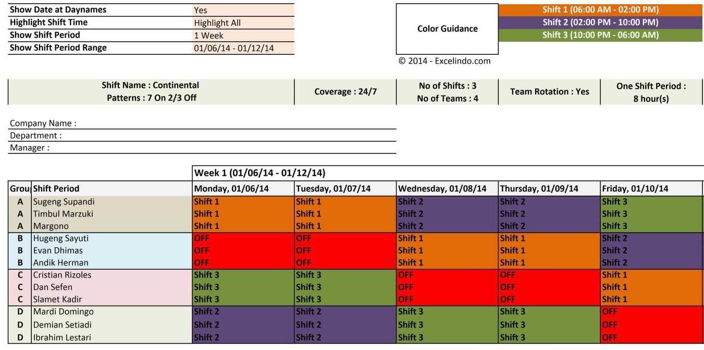 Free Shift Calendar Creator | Qualads