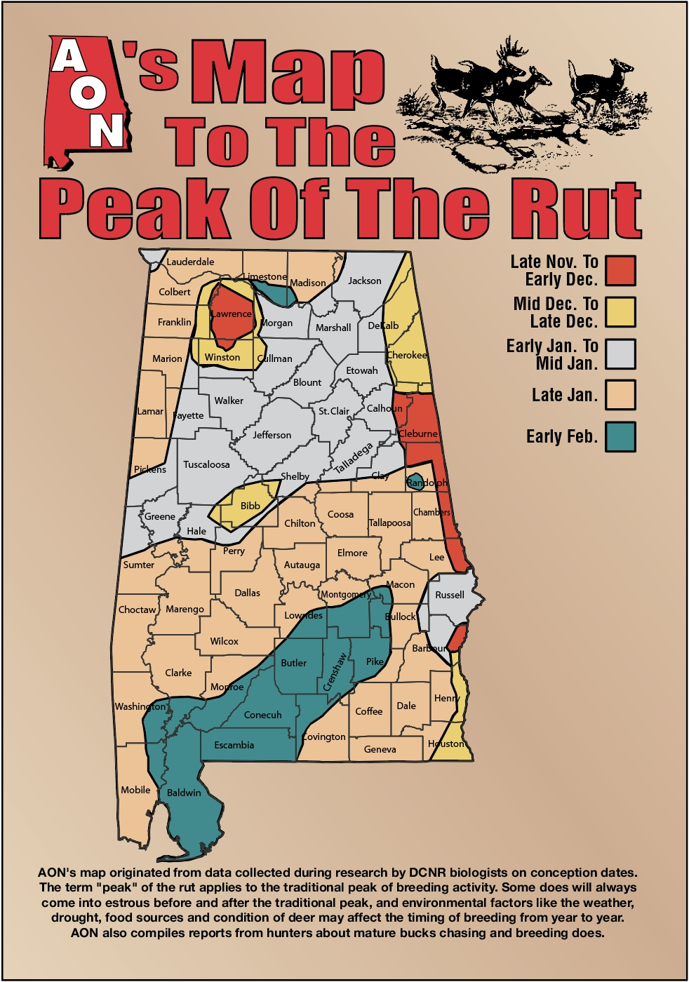 Georgia Deer Rut Season – Template Calendar Design