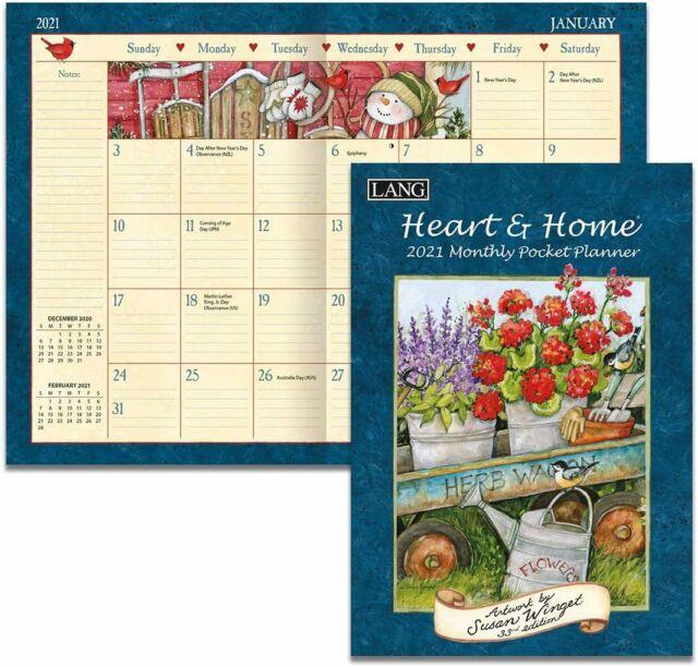 Heart And Home - 2021 Pocket Planner Calendar - Brand New