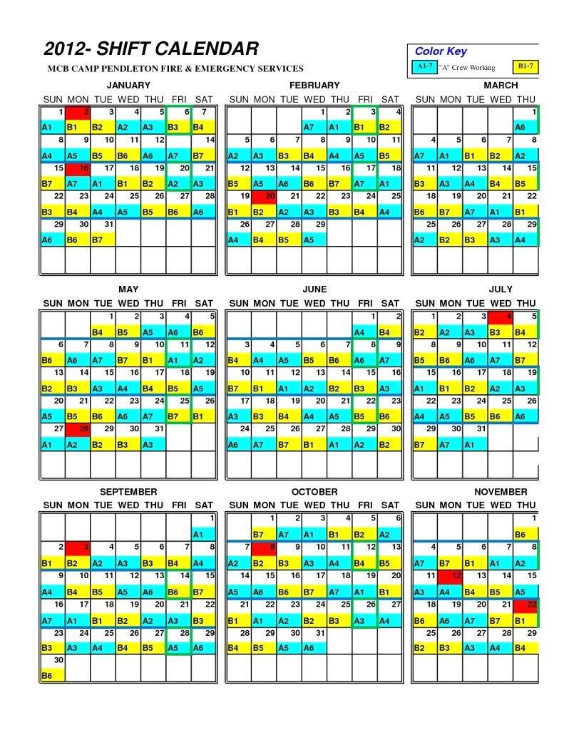 Houston Fire Department Shift Calendar | Printable
