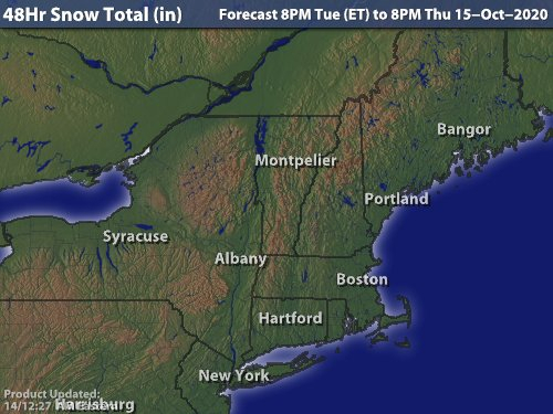 Intellicast - 48-Hour Snow Forecast In Rutland, Vermont