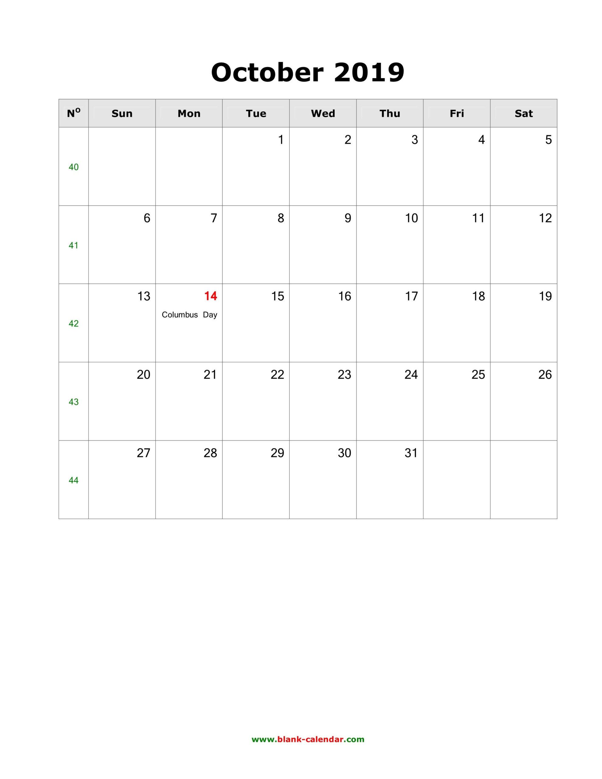 Julian Date For October 2019 | Calendar Template Printable