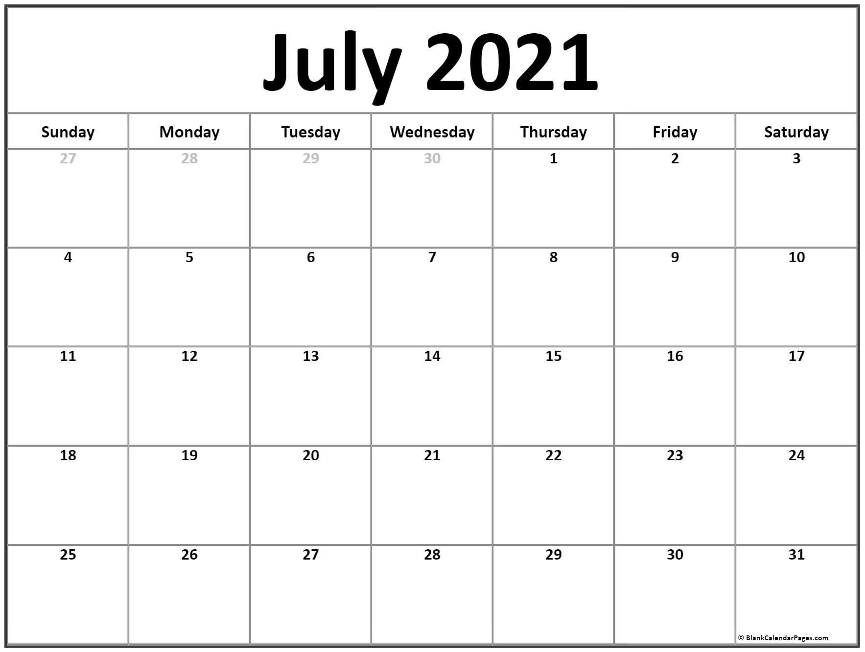 Fill Andprint A Calendar 2021 | Calendar Printables Free Blank