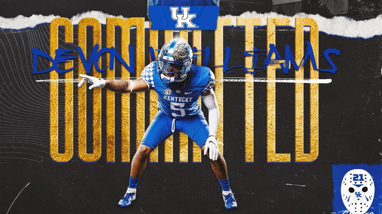 Kentucky Lands 2021 Three-Star Linebacker Devon Williams