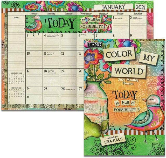 Lang Color My World 2021 Monthly Pocket Planner W | Ebay