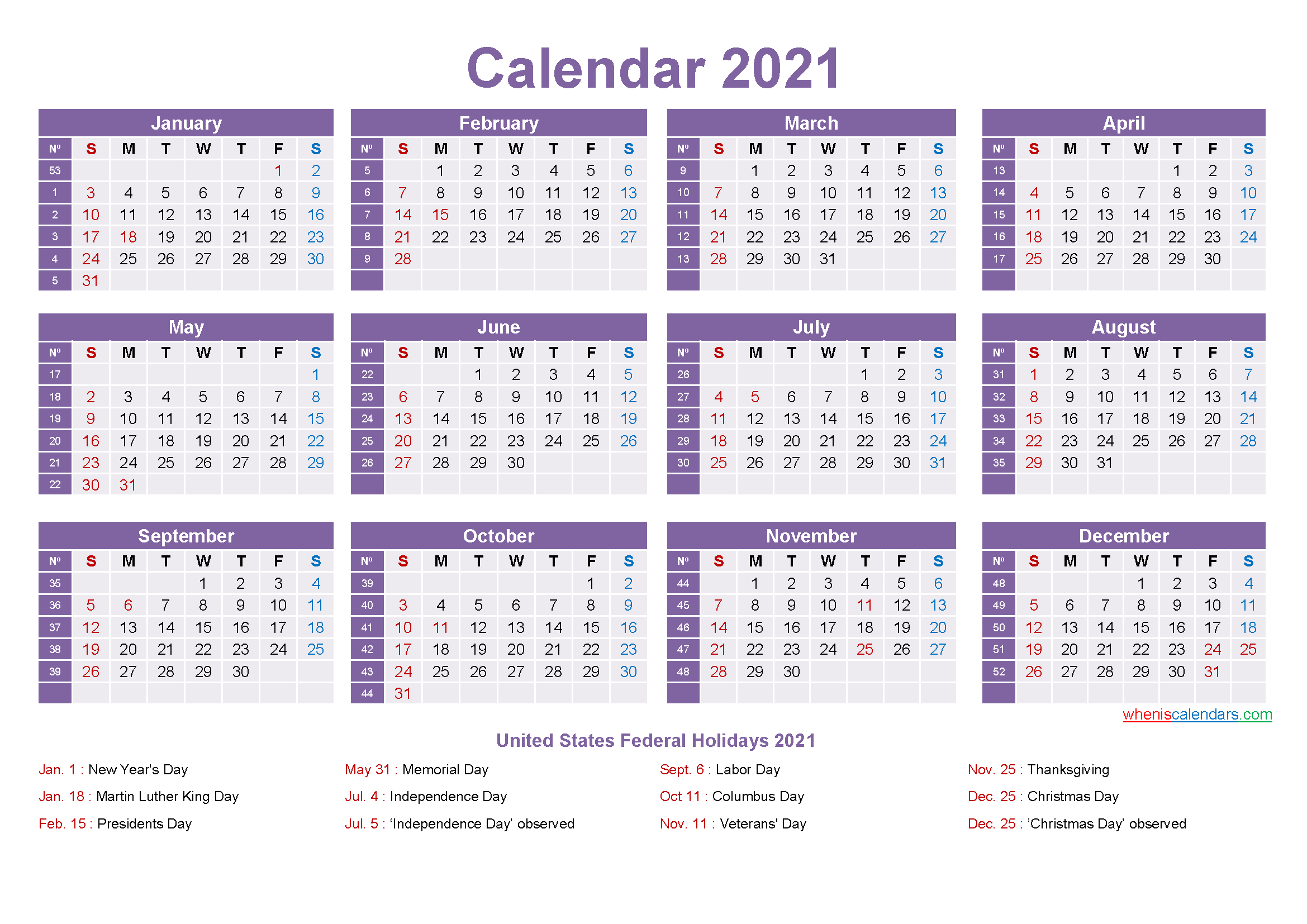 Mini Desk Calendar 2021 Free Printable | Free Printable