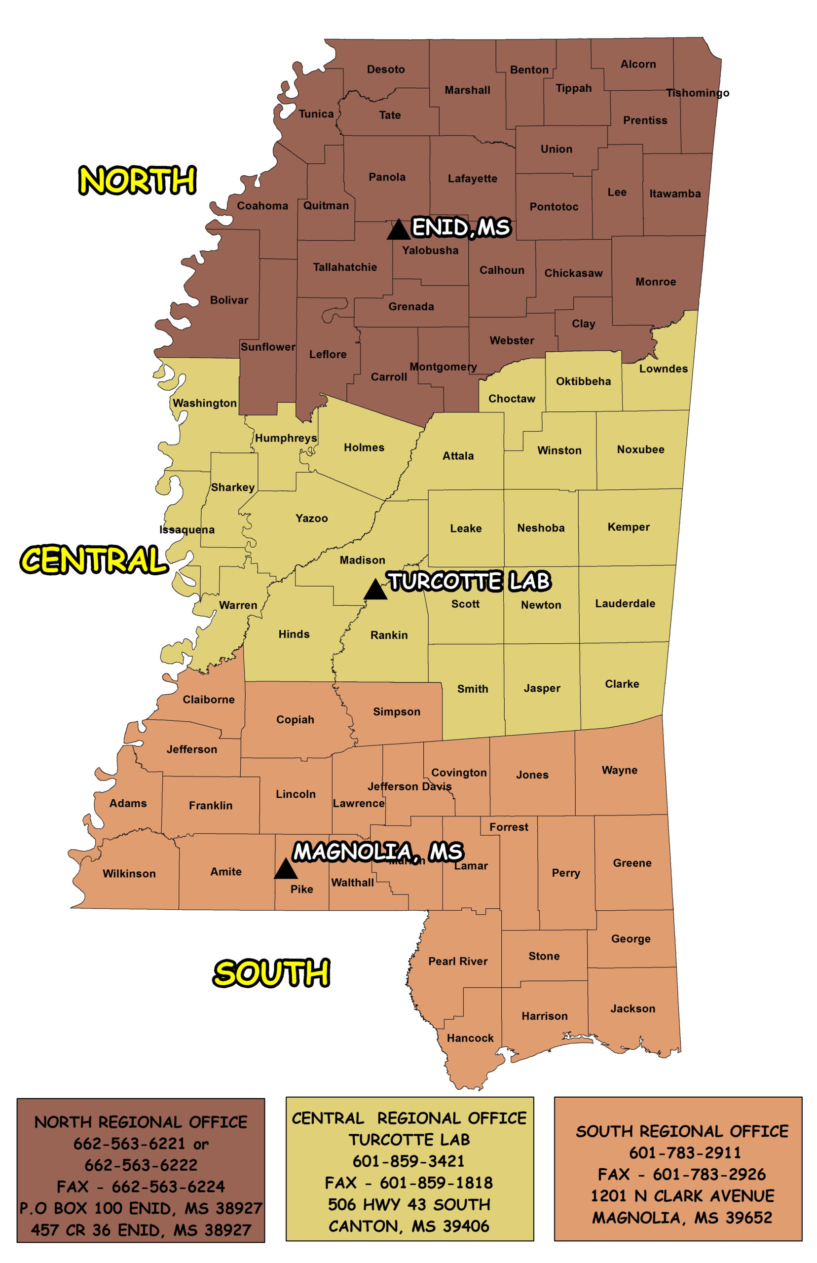 Mississippi Deer Zone Map
